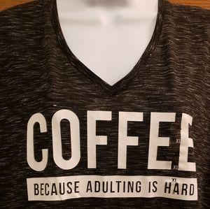 "Tops - Apt. 9 ""Coffee Because Adulting is Hard"" Tee"